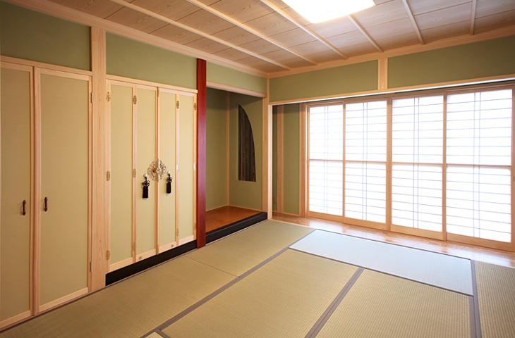 木の家 自然素材 高級和室|丸高木材マルタカハウスの家
