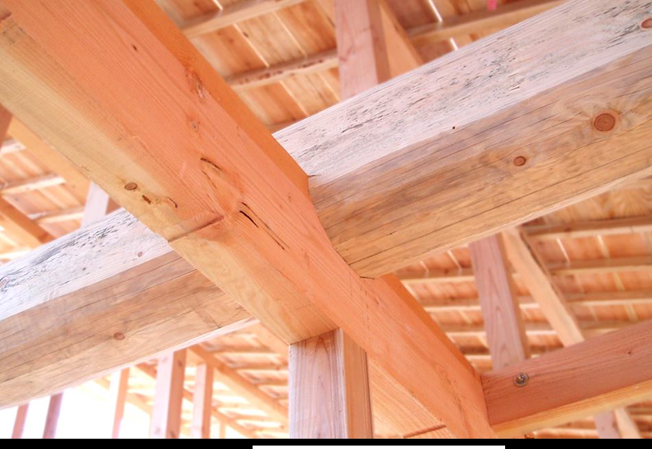 富山県 注文住宅 強い 木 骨太組 ガンコな骨太組 十文字組工法|丸高木材マルタカハウスの家